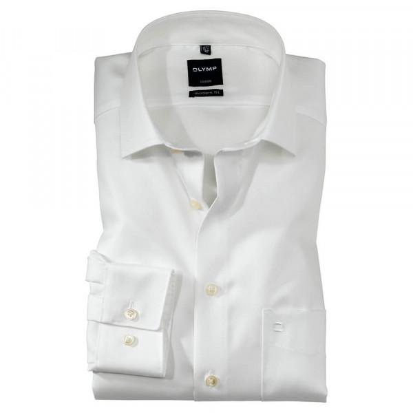 OLYMP Luxor modern fit Hemd TWILL beige mit Global Kent Kragen in moderner Schnittform