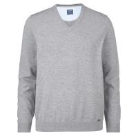 OLYMP Strick modern fit Pullover grau in moderner Schnittform
