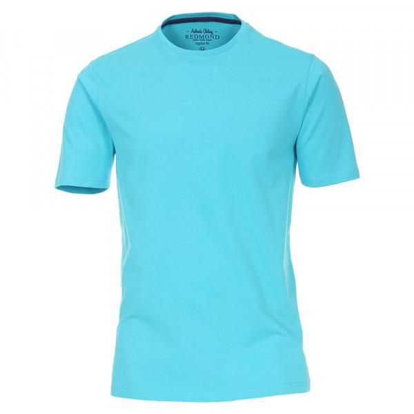 Redmond T-Shirt türkis in klassischer Schnittform
