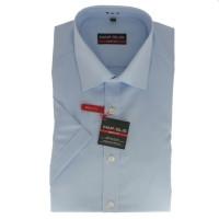 Marvelis BODY FIT Hemd UNI POPELINE hellblau mit New York Kent Kragen in schmaler Schnittform