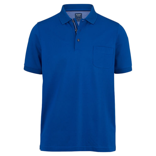 OLYMP Polo modern fit blau in moderner Schnittform