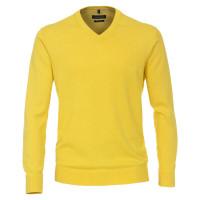 CASAMODA Pullover gelb in klassischer Schnittform