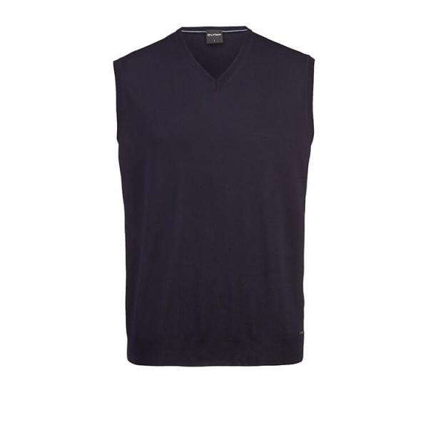 OLYMP Strick modern fit Pullunder dunkelblau in moderner Schnittform