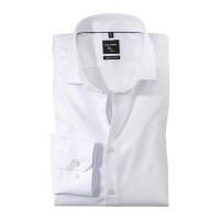 OLYMP No. Six super slim Hemd TWILL weiss mit Royal Kent Kragen in super schmaler Schnittform