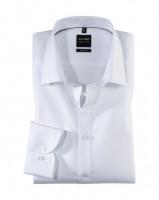 OLYMP Level Five body fit Hemd TWILL weiss mit New York Kent Kragen in schmaler Schnittform