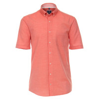Redmond COMFORT FIT Hemd TWILL rot mit Button Down Kragen in klassischer Schnittform