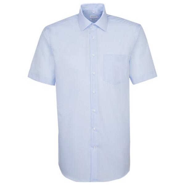 Seidensticker REGULAR Hemd UNI POPELINE hellblau mit Business Kent Kragen in moderner Schnittform