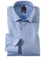 OLYMP Level Five body fit Hemd TWILL mittelblau mit Under Button Down Kragen in schmaler Schnittform