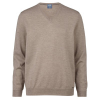OLYMP Strick modern fit Pullover beige in moderner Schnittform
