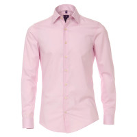 Redmond SLIM FIT Hemd UNI STRETCH rosa mit Kent Kragen in schmaler Schnittform