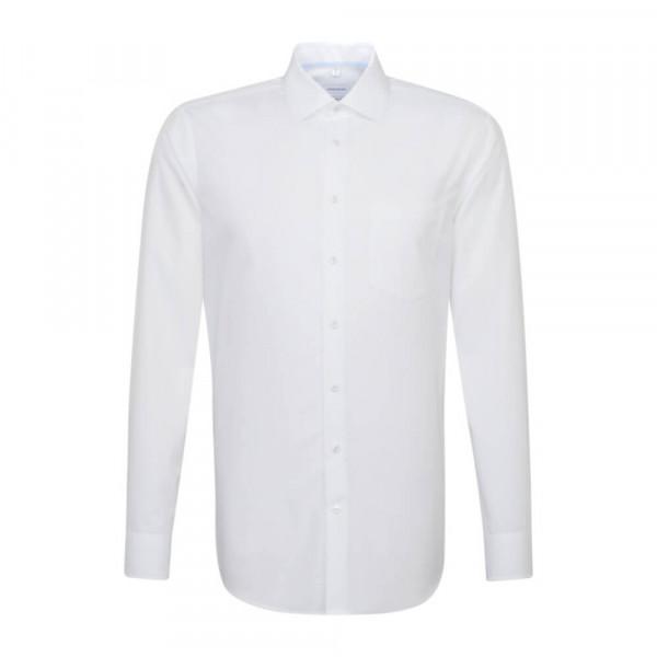 Seidensticker Hemd REGULAR UNI POPELINE weiss mit Business Kent Kragen in moderner Schnittform
