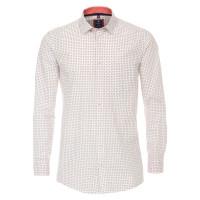 Redmond COMFORT FIT Hemd PRINT weiss mit Kent Kragen in klassischer Schnittform