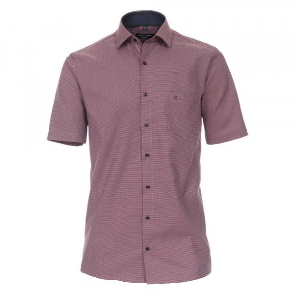 CASAMODA Hemd COMFORT FIT STRUKTUR rot mit Kent Kragen in klassischer Schnittform