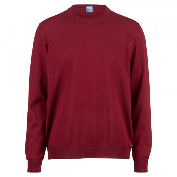 OLYMP Strick modern fit Pullover dunkelrot in moderner Schnittform