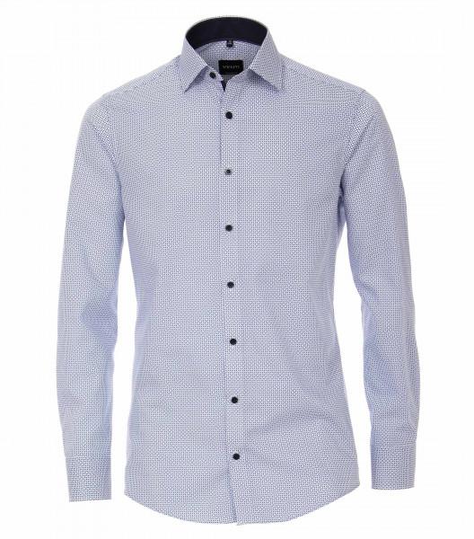 Venti Hemd MODERN FIT PRINT hellblau mit Kent Kragen in moderner Schnittform