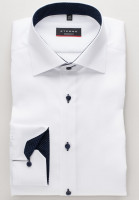 Eterna Hemd MODERN FIT FEIN OXFORD weiss mit Classic Kent Kragen in moderner Schnittform