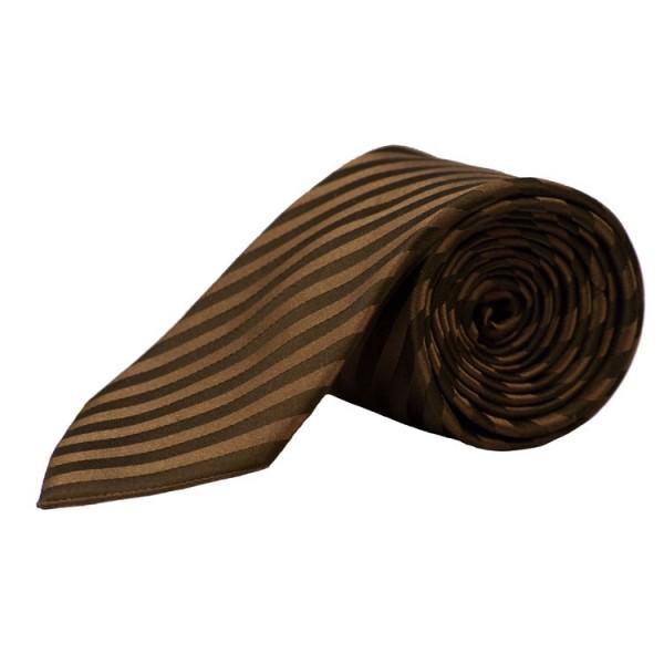 Parsley Krawatte braun gestreift