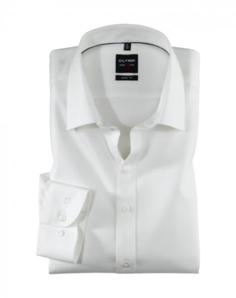 OLYMP Level Five body fit Hemd TWILL beige mit New York Kent Kragen in schmaler Schnittform