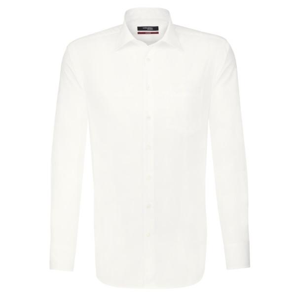 Seidensticker REGULAR Hemd UNI POPELINE beige mit Business Kent Kragen in moderner Schnittform