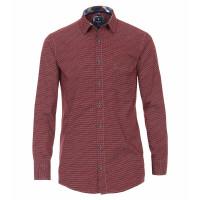 Redmond COMFORT FIT Hemd PRINT rot mit Kent Kragen in klassischer Schnittform