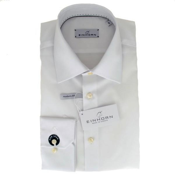 """Einhorn Hemd """"Jamie Slim"""" weiß mit Kent Kragen in moderner Schnittform"""