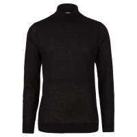 OLYMP Level Five Strick Pullover schwarz in schmaler Schnittform