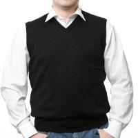 Olymp Pullunder in schwarz mit V-Ausschnitt