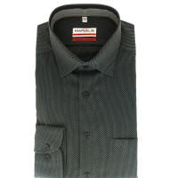 Marvelis Hemd MODERN FIT STRUKTUR schwarz mit New York Kent Kragen in moderner Schnittform