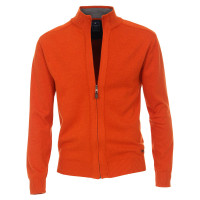 Redmond Strickjacke orange in klassischer Schnittform
