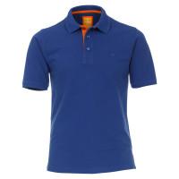 Redmond Poloshirt mittelblau in moderner Schnittform