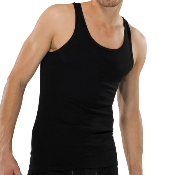 "Schiesser ""ORIGINAL FEINRIPP"" schwarzes Shirt"