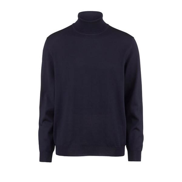 OLYMP Strick modern fit Pullover dunkelblau in moderner Schnittform