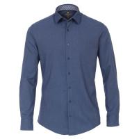 Redmond MODERN FIT Hemd STRUKTUR dunkelblau mit Kent Kragen in moderner Schnittform