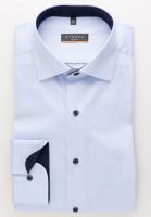 Eterna Hemd SLIM FIT UNI STRETCH hellblau mit Classic Kent Kragen in schmaler Schnittform