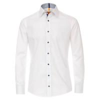 Redmond MODERN FIT Hemd UNI STRETCH weiss mit Kent Kragen in moderner Schnittform