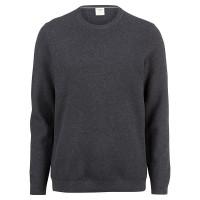OLYMP Strick Level Five Pullover anthrazit in schmaler Schnittform
