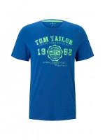 Tom Tailor T-Shirt mittelblau in klassischer Schnittform