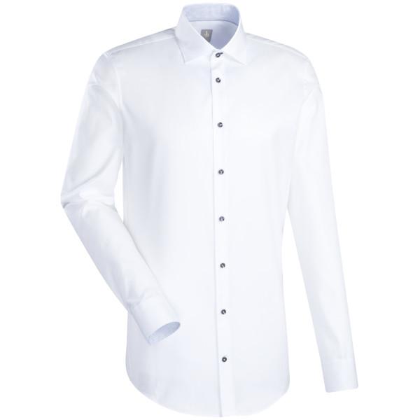 Jacques Britt CUSTOM FIT Hemd TWILL weiss mit Kent Kragen in moderner Schnittform