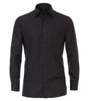 CASAMODA Hemd COMFORT FIT UNI POPELINE schwarz mit Kent Kragen in klassischer Schnittform