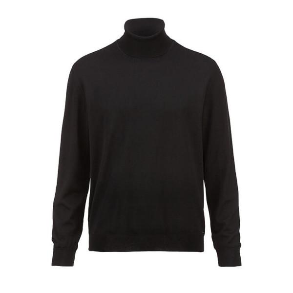 OLYMP Strick modern fit Pullover schwarz in moderner Schnittform