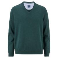 OLYMP Strick modern fit Pullover grün in moderner Schnittform