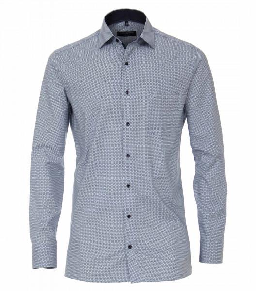 CASAMODA Hemd MODERN FIT PRINT hellblau mit Kent Kragen in moderner Schnittform