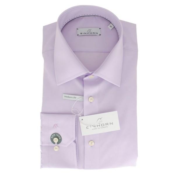 """Einhorn Hemd """"Jamie Slim"""" flieder mit Kent Kragen in moderner Schnittform"""