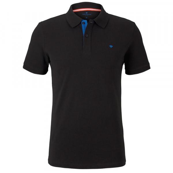 Tom Tailor Poloshirt schwarz in klassischer Schnittform