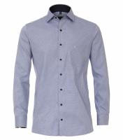 CASAMODA Hemd COMFORT FIT STRUKTUR dunkelblau mit Kent Kragen in klassischer Schnittform