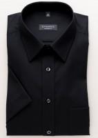 Eterna Hemd COMFORT FIT UNI POPELINE schwarz mit Basic Kent Kragen in klassischer Schnittform