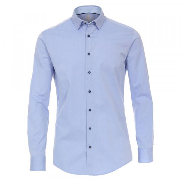 Redmond Hemd MODERN FIT UNI STRETCH hellblau mit Button Down Kragen in moderner Schnittform