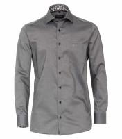 CASAMODA Hemd COMFORT FIT STRUKTUR schwarz mit Kent Kragen in klassischer Schnittform
