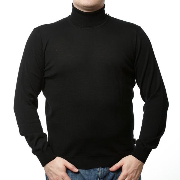 Olymp Pullover in schwarz mit Rollkragen