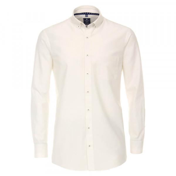 Redmond COMFORT FIT Hemd TWILL weiss mit Button Down Kragen in klassischer Schnittform